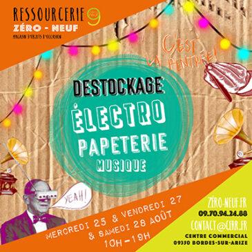 Déstockage électro, musique, papeterie !